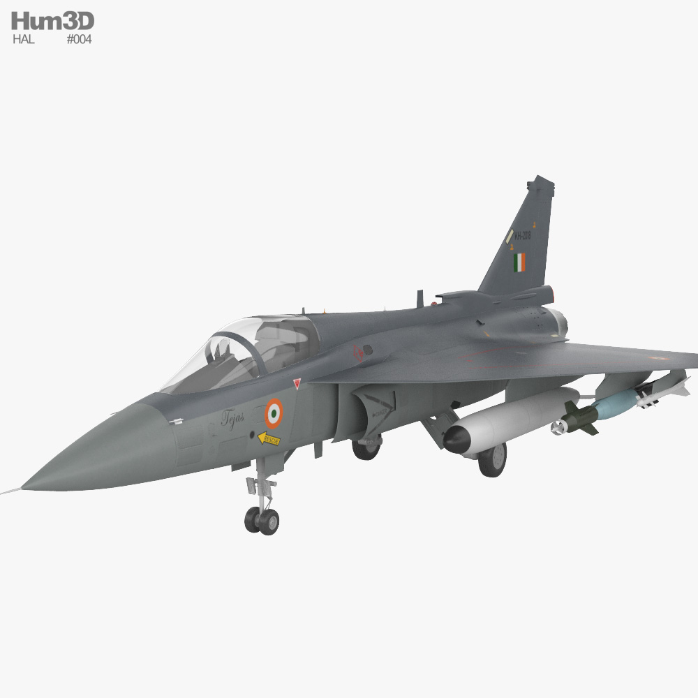 3D model of HAL Tejas