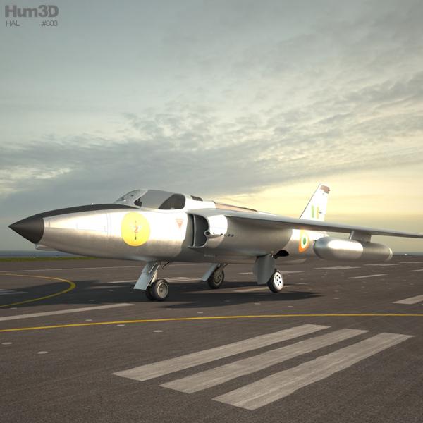 HAL Ajeet 3D model