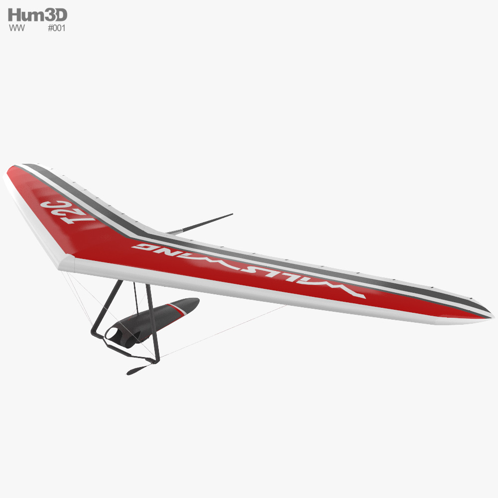 Hang glider Wills Wing T2C 3D model