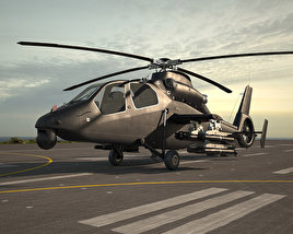 Harbin Z-19 Military helicopter 3D model