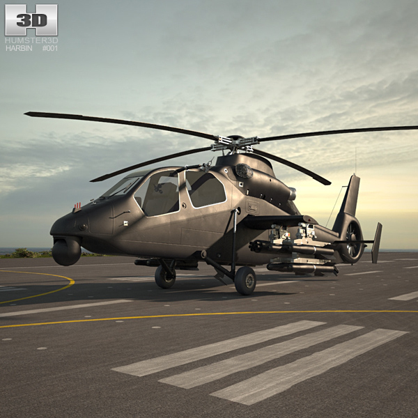 Harbin Z-19 Military helicopter 3D model