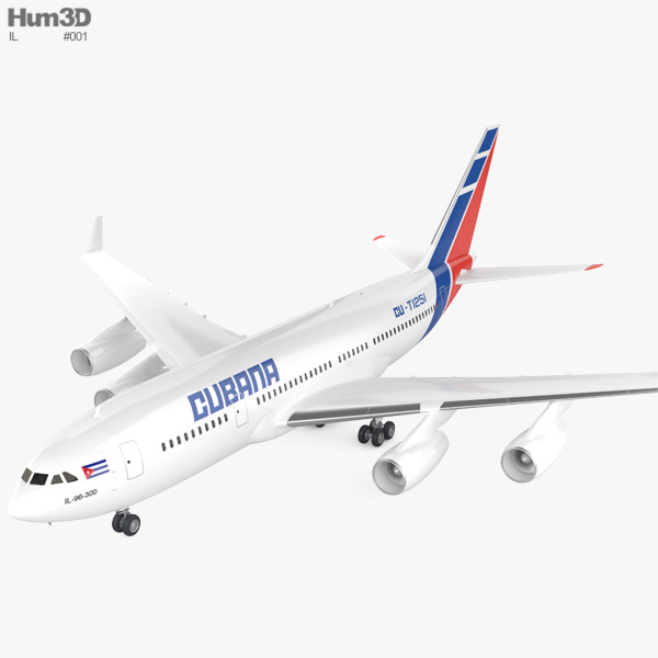 Ilyushin Il-96 3D model