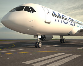 3D model of Irkut MC-21