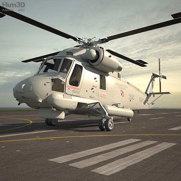Kaman SH-2G Super Seasprite 3D model