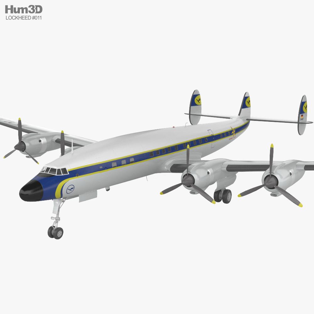 Lockheed L-1649 Starliner 3D model