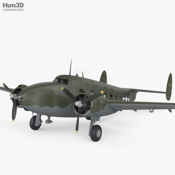 Lockheed Model 18 Lodestar 3D model