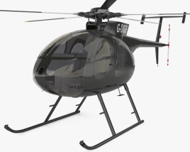 3D model of MD Helicopters MD 500
