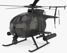 3D model of MD Helicopters MH-6 Little Bird
