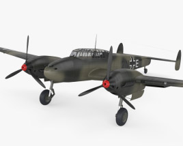 3D model of Messerschmitt Bf 110