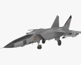 3D model of Mikoyan-Gurevich MiG-25