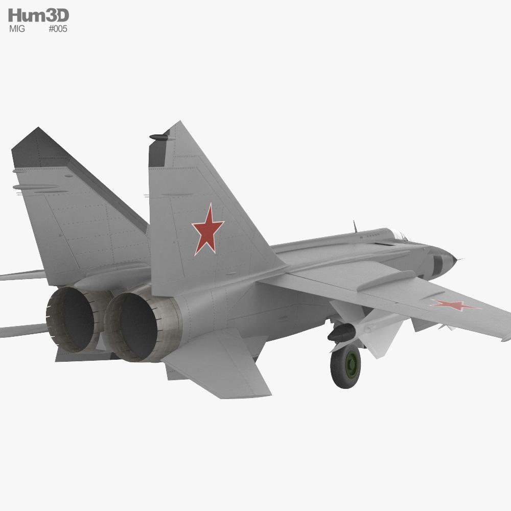 Mikoyan-Gurevich MiG-25 3d model