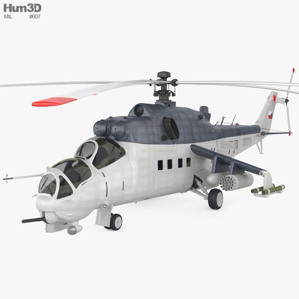 Mil Mi-35 3D model