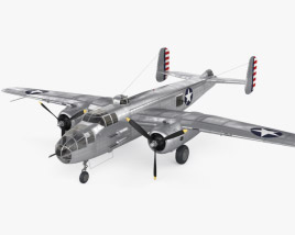 3D model of North American B-25 Mitchell