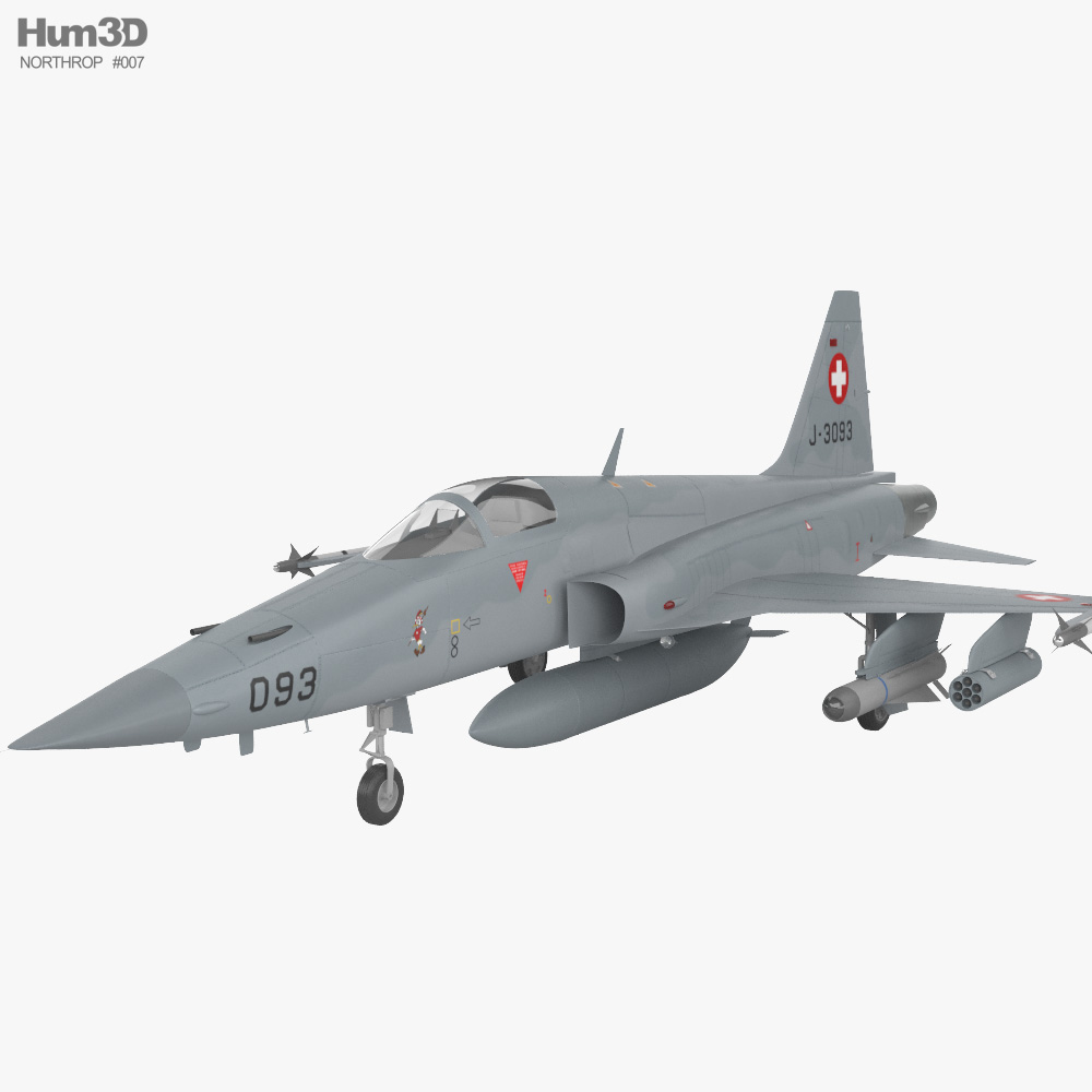 3D model of Northrop F-5