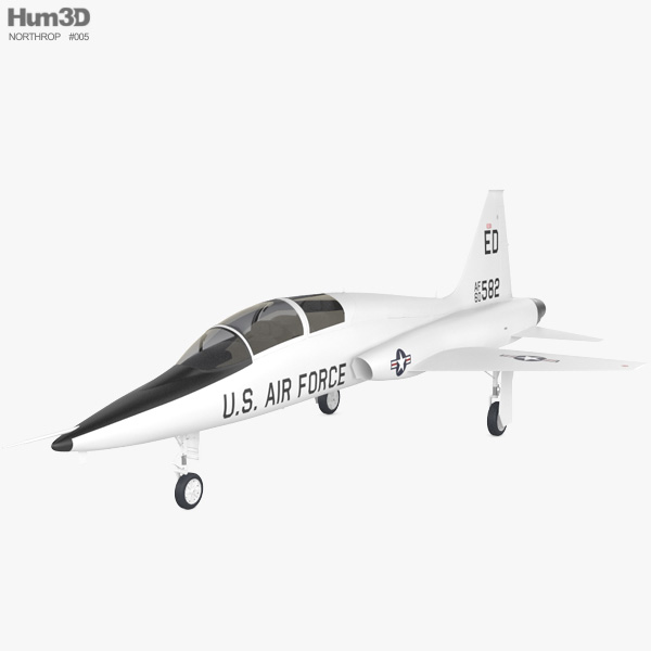 3D model of Northrop T-38 Talon