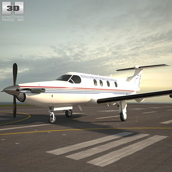 Pilatus PC-12 3D model