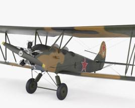 3D model of Polikarpov Po-2
