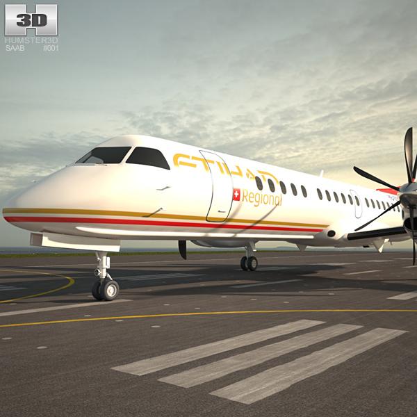Saab 2000 3D model