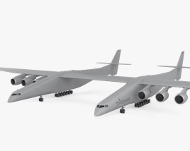 3D model of Scaled Composites Stratolaunch Model 351