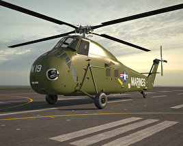 3D model of Sikorsky H-34