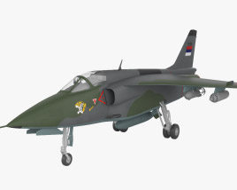 3D model of Soko J-22 Orao