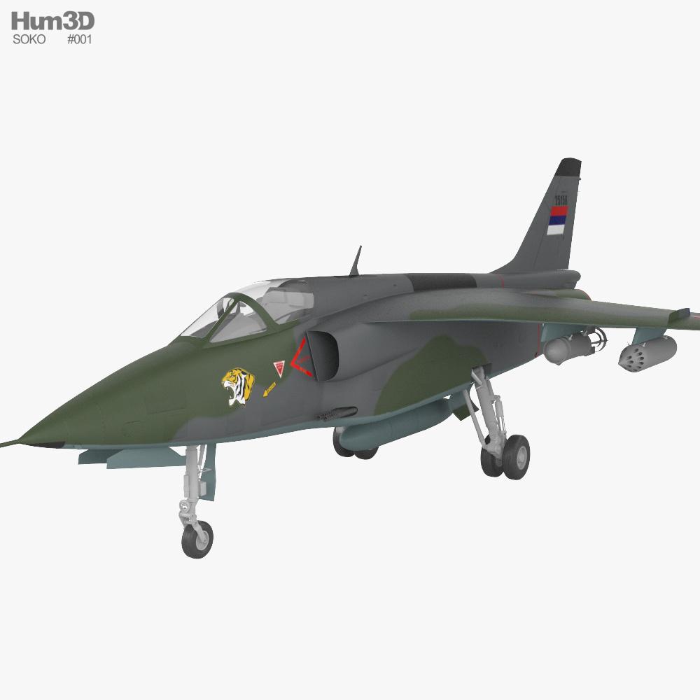 Soko J-22 Orao 3D model