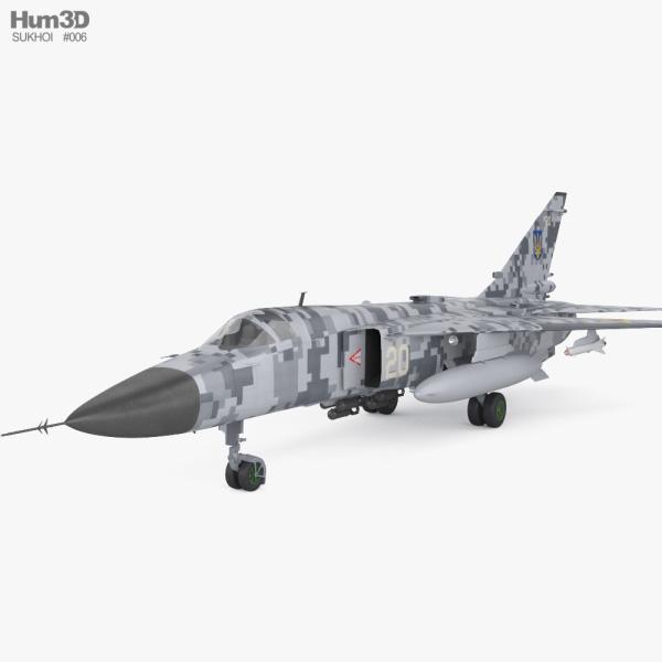 Sukhoi Su-24 3D model