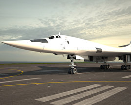 3D model of Tupolev Tu-160