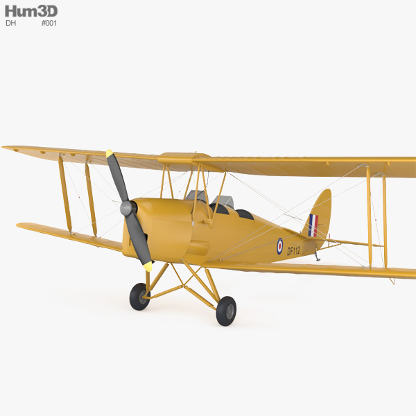 3D model of de Havilland DH.82 Tiger Moth