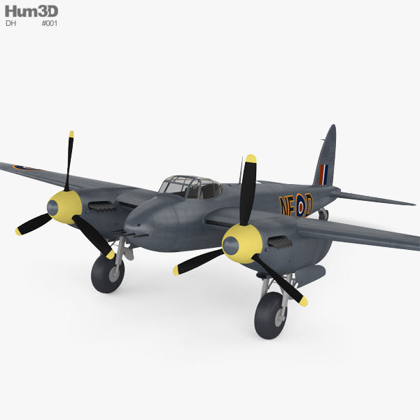 3D model of de Havilland DH.98 Mosquito FB MK VI