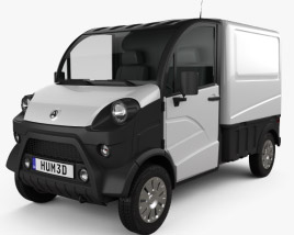 3D model of Aixam D-Truck Van 2018