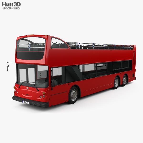 3D model of Alexander Dennis Enviro500 Open Top Bus 2005