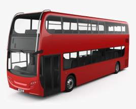 3D model of Alexander Dennis Enviro400H Double Decker Bus 2015