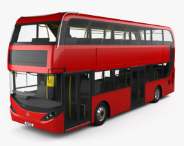 3D model of Alexander Dennis Enviro400H City Double Decker Bus 2015