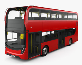 3D model of Alexander Dennis Enviro400 Double Decker Bus 2015