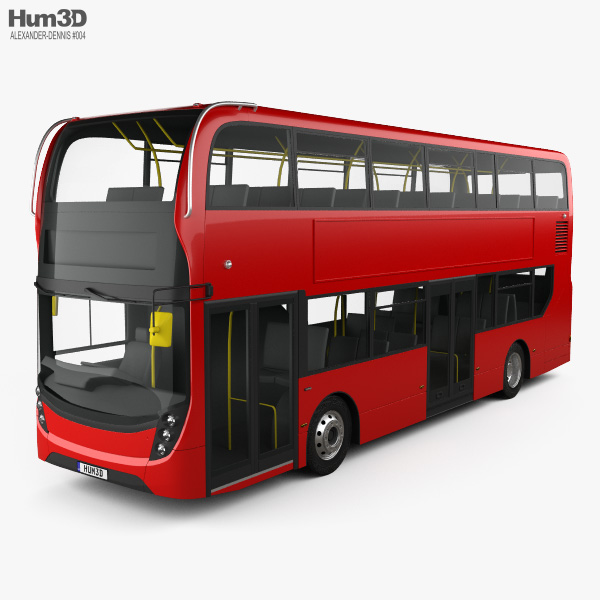 Alexander Dennis Enviro400 Double Decker Bus 2015 3D model