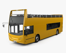3D model of Alexander Dennis Enviro400 Open Top Bus 2015