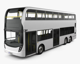 3D model of Alexander Dennis Enviro500 Double Decker Bus 2016