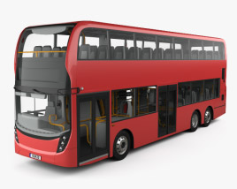 3D model of Alexander Dennis Enviro 500 Double Decker Bus with HQ interior 2016