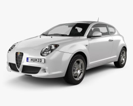 3D model of Alfa Romeo MiTo 2009