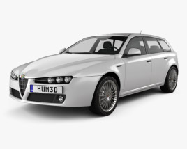 3D model of Alfa Romeo 159 Sportwagon 2011