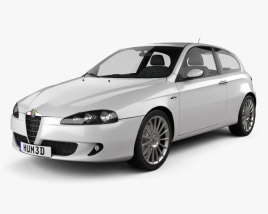 3D model of Alfa Romeo 147 3door 2009