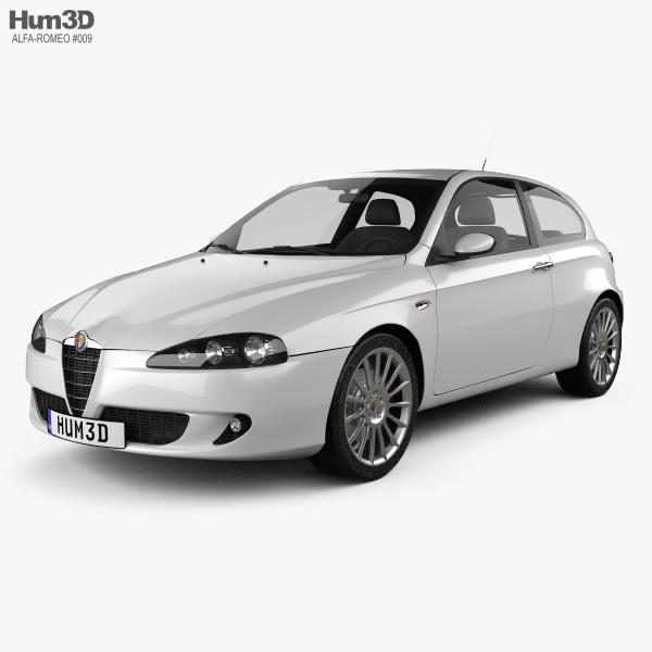 Alfa Romeo 147 3door 2009 3D model