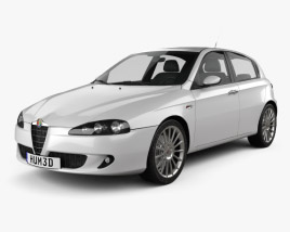 3D model of Alfa Romeo 147 5-door 2009