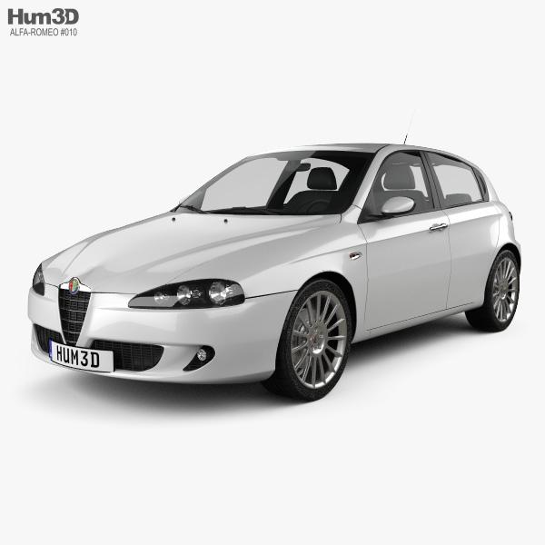 Alfa Romeo 147 5-door 2009 3D model