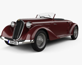 3D model of Alfa Romeo 6C 2300 S Touring Pescara Spider 1935
