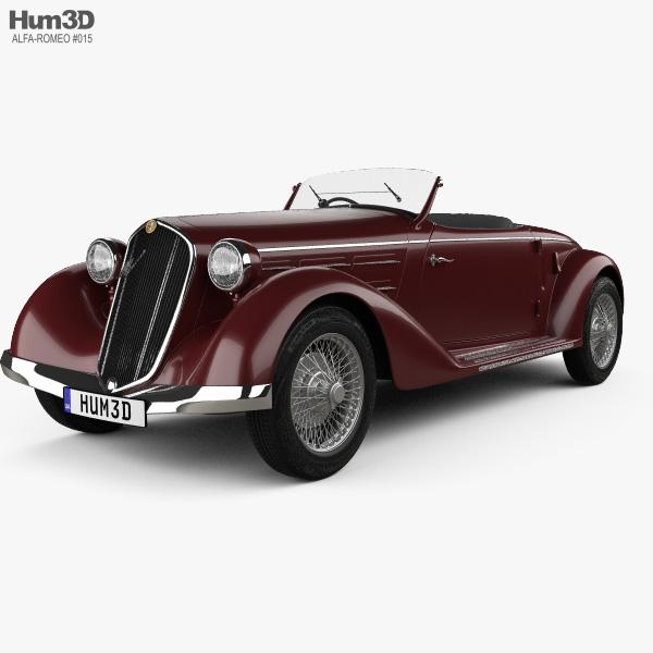 Alfa Romeo 6C 2300 S Touring Pescara Spider 1935 3D model