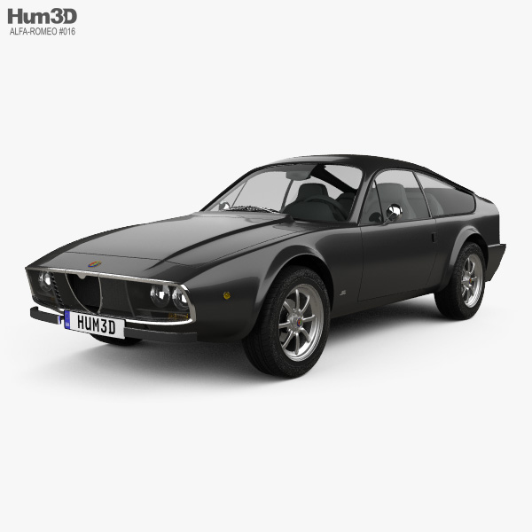 3D model of Alfa Romeo GT 1300 Junior Zagato 1972