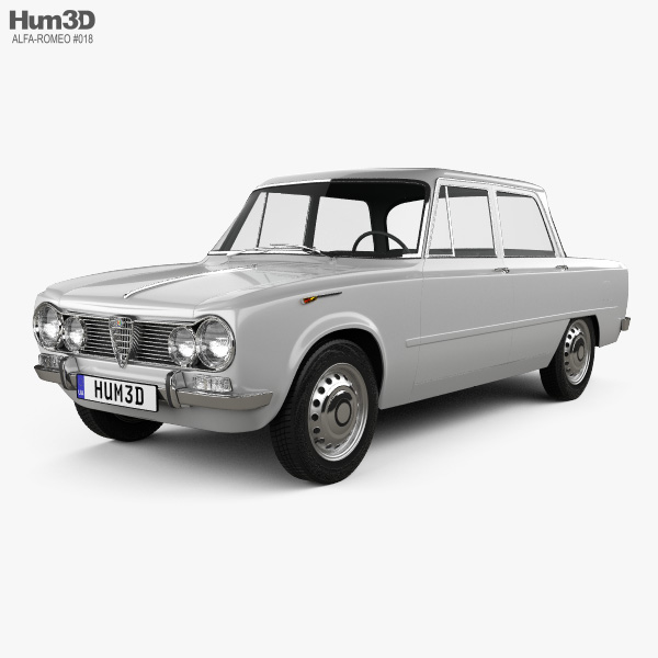 3D model of Alfa Romeo Giulia (105) 1962