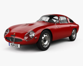 3D model of Alfa Romeo Giulia TZ (105) 1963